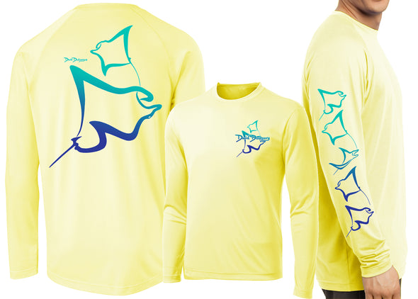 Men's Performance Manta Rays Deco Long Sleeve - Dunleavyapparel