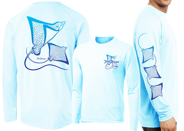 Men's Performance Spotted Eagle Rays Deco Long Sleeve - Dunleavyapparel