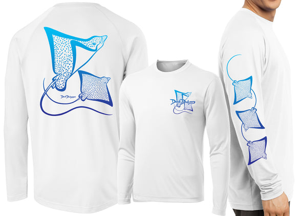 Men's Performance Spotted Eagle Rays Deco Long Sleeve - Dunleavy Apparel
