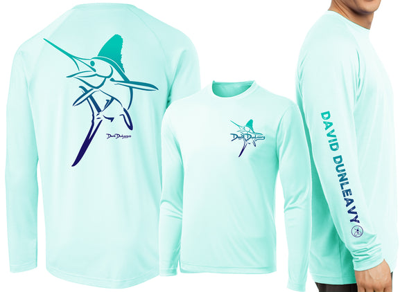 Men's Performance White Marlin Deco Long Sleeve - Dunleavyapparel