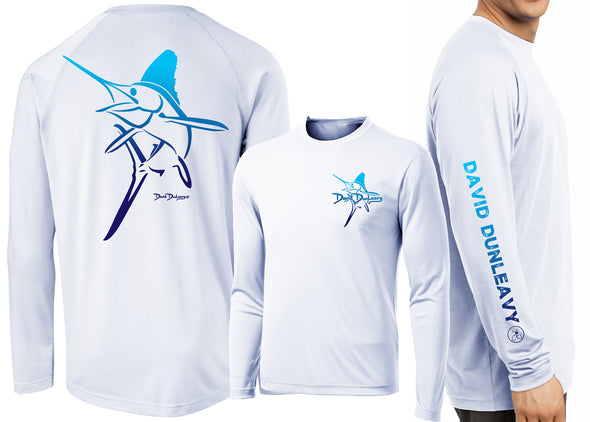 Men's Performance White Marlin Deco Long Sleeve