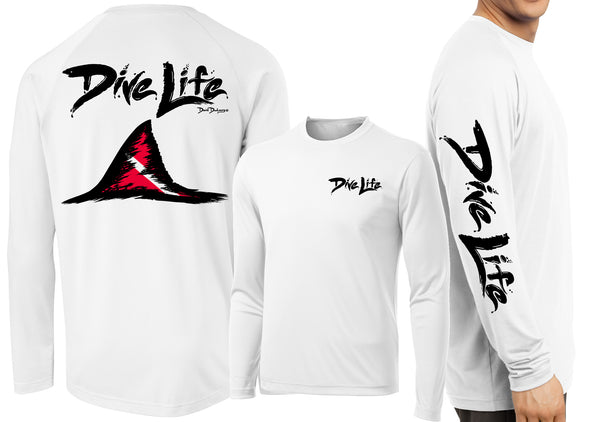 Men's Performance Dive Life Shark Fin Long Sleeve