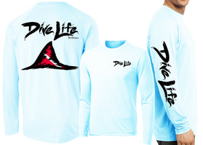 Men's Performance Dive Life Shark Fin Long Sleeve - Dunleavyapparel
