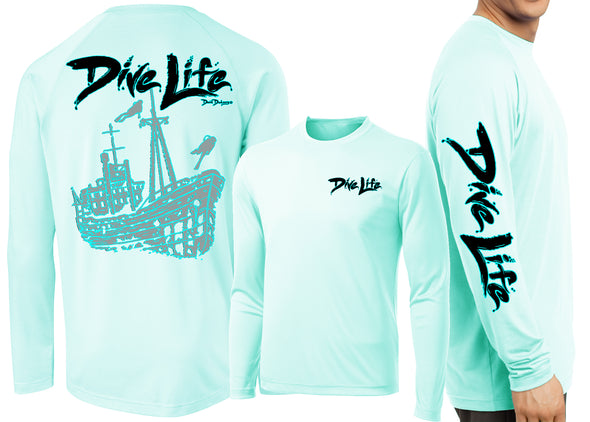 Men's Performance Dive Life Ship Wreck Long Sleeve