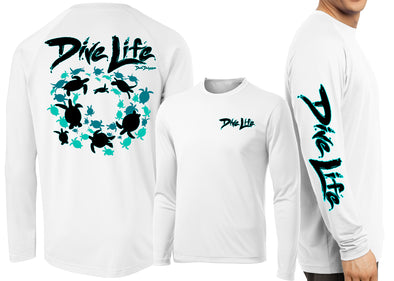 Men's Performance Dive Life Turtles Long Sleeve