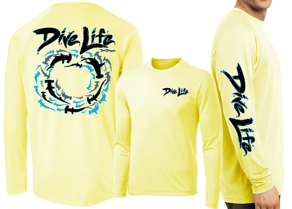 Men's Performance Dive Life Hammerheads Long Sleeve