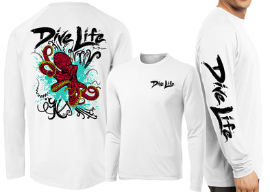 Men's Performance Dive Life Octopus Long Sleeve - Dunleavyapparel