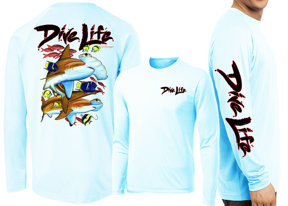 Men's Performance Dive Life Hammer Time Long Sleeve