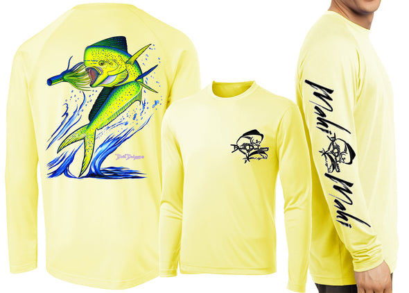 Men's Performance Mahi Mahi Long Sleeve - Dunleavyapparel