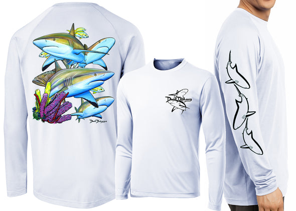 Men's Performance Caribbean Reef Sharks Long Sleeve - Dunleavyapparel
