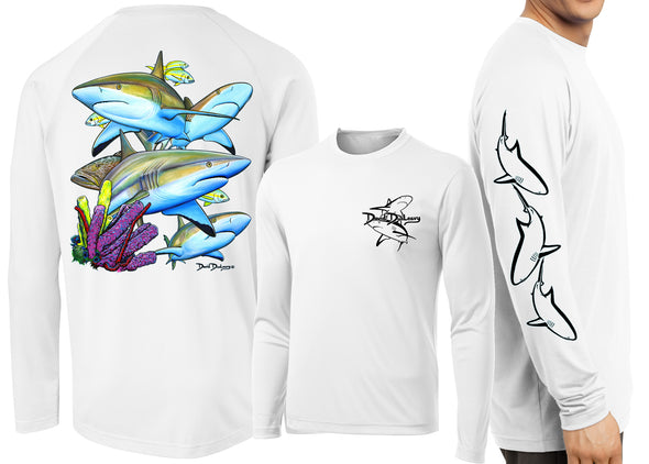 Men's Performance Caribbean Reef Sharks Long Sleeve
