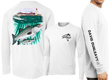 Performance Striped Bass Lighthouse Long Sleeve - Dunleavyapparel