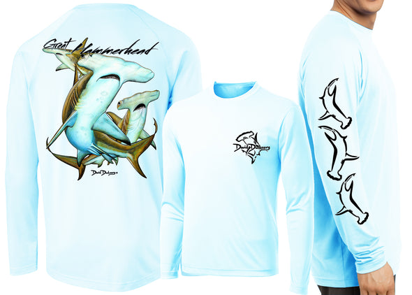 Men's Performance Great Hammerhead Sharks Long Sleeve