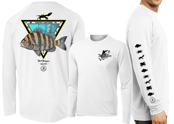 Men's Performance Sheepshead Toothy Critters Long Sleeve - Dunleavyapparel
