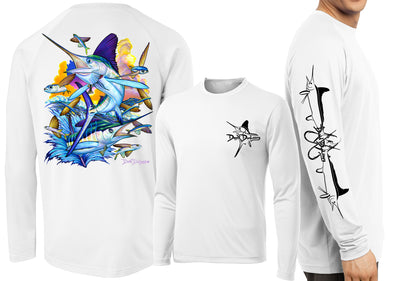 Men's Performance White Marlin Long Sleeve