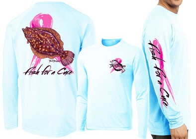 Men's Performance Fish For A Cure Long Sleeve - Dunleavyapparel