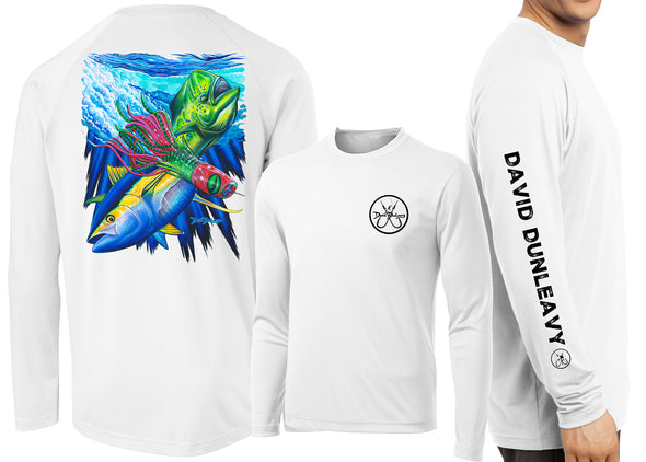 Men's Performance Mahi, Tuna, Lure Long Sleeve - Dunleavyapparel