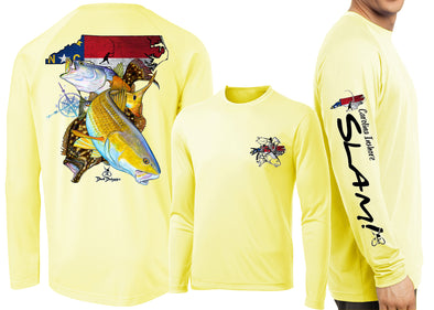 Men's Performance North Carolina Inshore Slam Long Sleeve - Dunleavyapparel