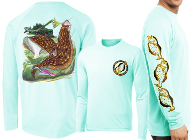 Men's Performance Flounder Reef Long Sleeve - Dunleavyapparel