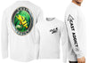 Men's Performance Cast Addict Peacock Bass & Snook Long Sleeve - Dunleavyapparel