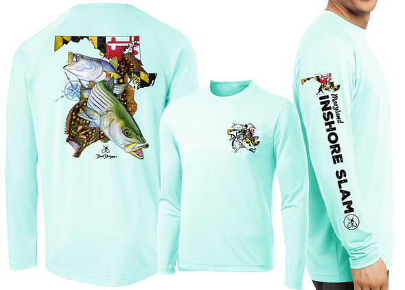 Men's Performance Maryland Inshore Slam Long Sleeve