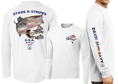 Men's Performance Stars & Stripes Long Sleeve