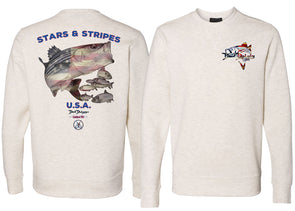 Men's Performance Stars & Stripes Sweatshirt - Dunleavyapparel
