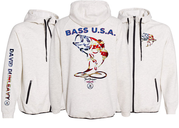 Men's Performance Bass USA Zip Hoodie - Dunleavyapparel