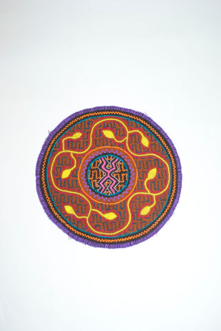 Round Shipibo Embroideries