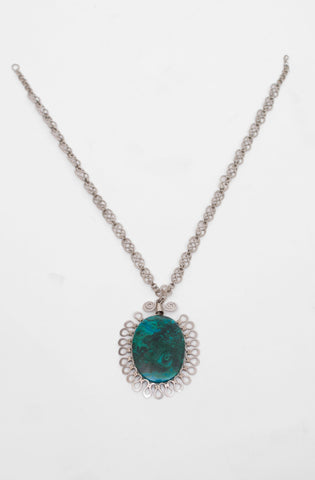 Alpacka and chrysocolla necklace