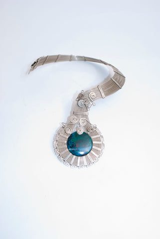 Alpaca Silver and Chrysocolla Necklace