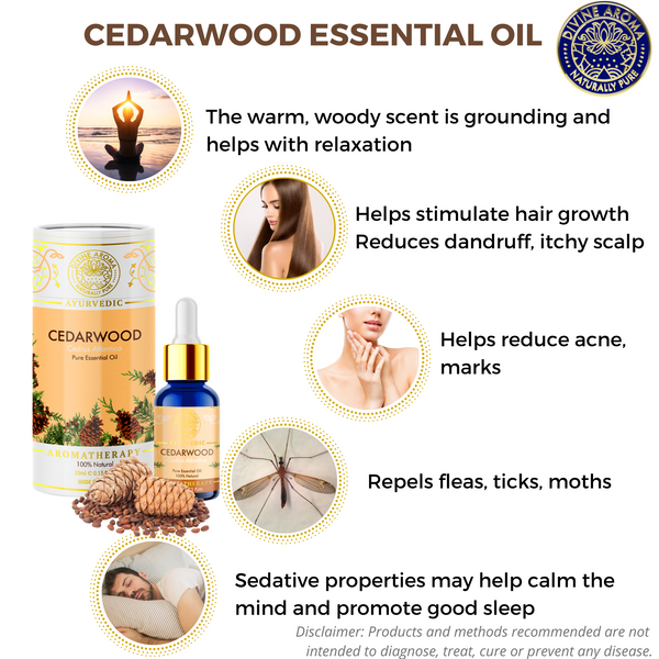 Cedarwood | For Skin, Hair growth, calming properties, repelling insects