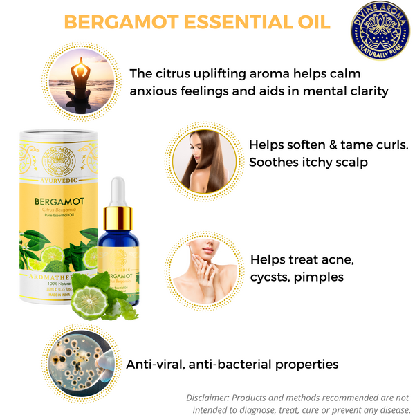 Bergamot | For Acne, Hair Health, Anti-viral properties, Uplifting properties
