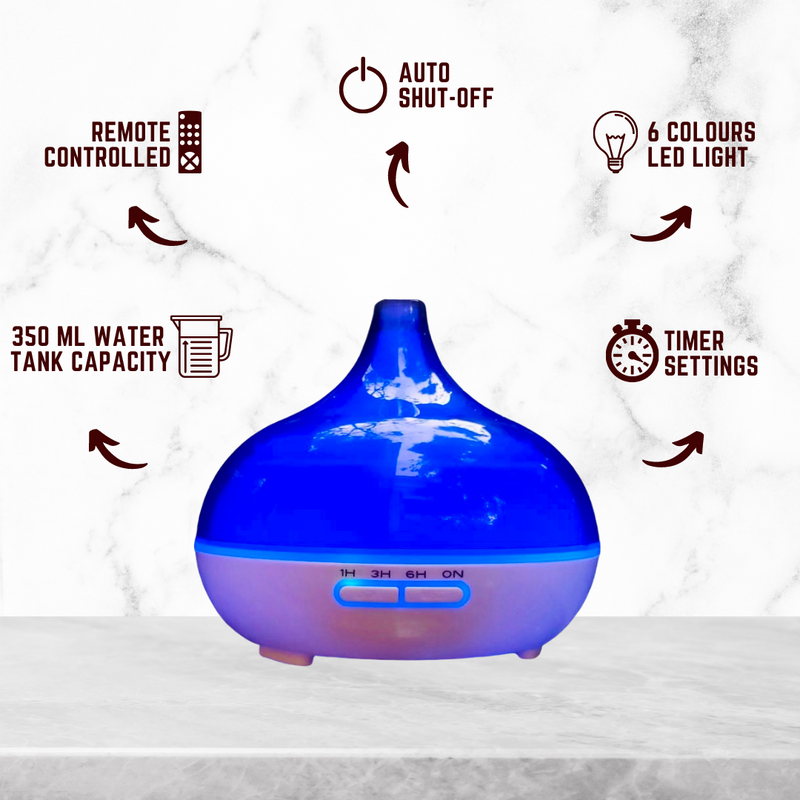 Aromatherapy Combo | Aroma diffuser (Transparent funnel type) + 1 Essential Oil | Make your own