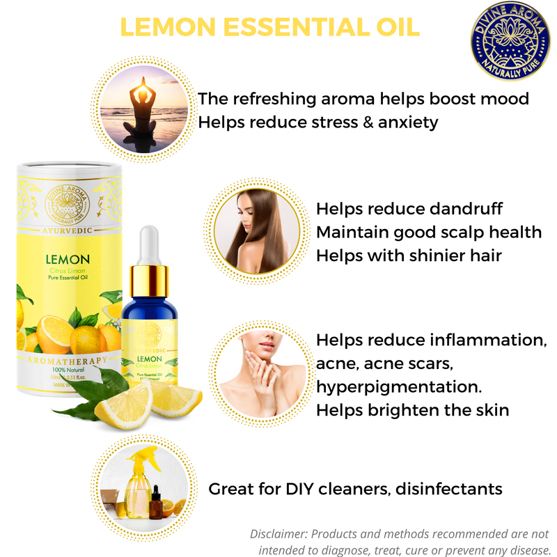 Lemon | For Skin, Hair, Refreshing properties, Air-purifying properties, Insect bites