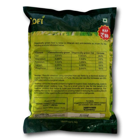 COFI- Organic Brown Indrayani Rice