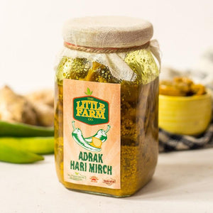 The Little Farm Company Adrak Hari Mirch Pickle