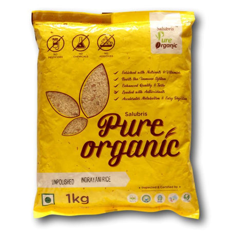 Salubris Pure Organic Unpolished Indrayani Rice