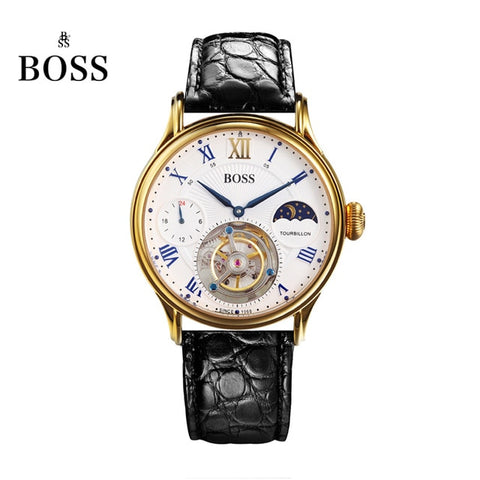 BOSS Men's Wrist Watch Luxury - Limited Edition Automatic Tourbillon Movement