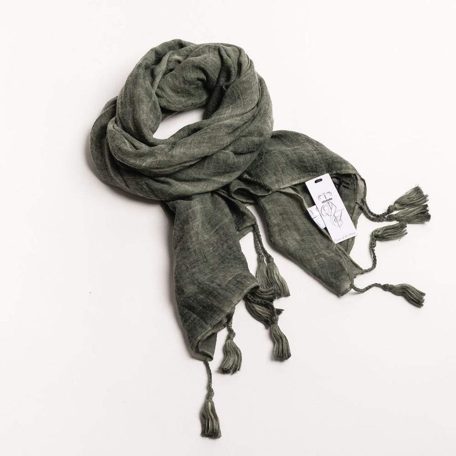 Scarf | Olive - LOW STOCK! by Queen Of The Foxes shop online now
