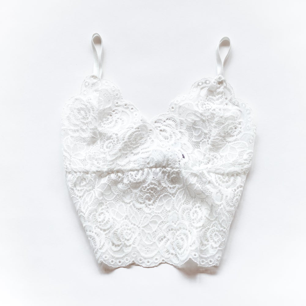 Lace Bralette | White by Queen Of The Foxes shop online now