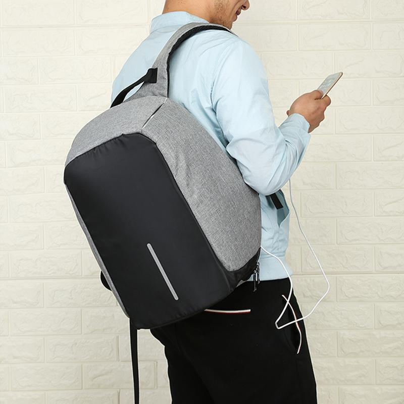 Trendy Fam 152401 Oxford™ - Anti-Theft USB Charging Travel Backpack