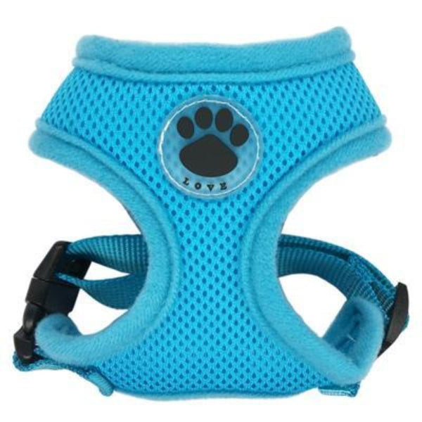 Trendy Fam 200003720 Blue / XS Adjustable Soft Dog Harness