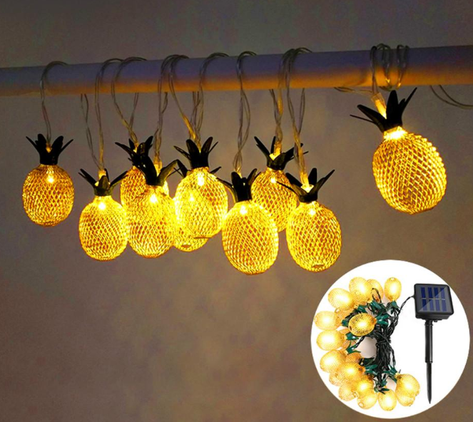 Trendy Fam 39050207 LED Pineapple Solar String Light