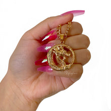 Load image into Gallery viewer, Gold Dragon Necklace