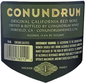 6 Bottles Conundrum Red Blend 2018 750ML