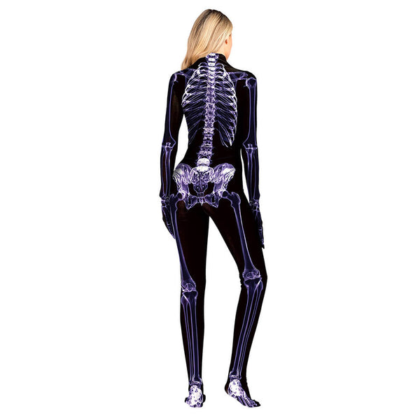 Women Skeleton Cosplay Jumpsuit - otakumadness