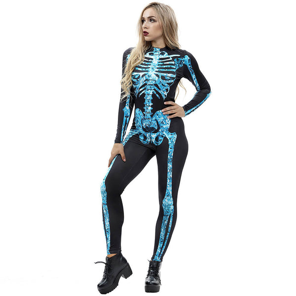Women Skeleton Jumpsuit - otakumadness