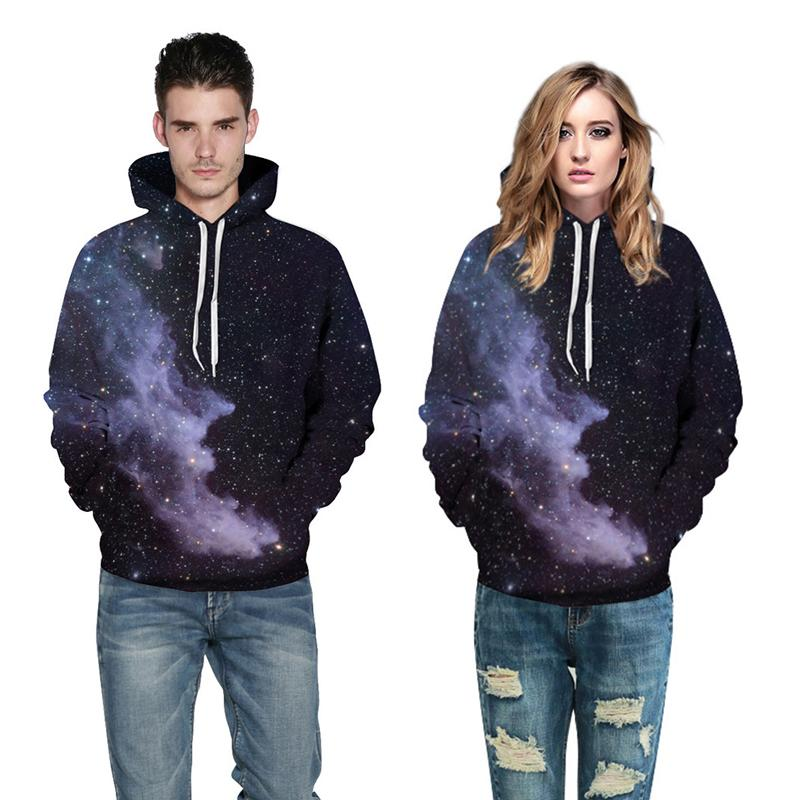 3D Print Hoodies - Dark Galaxy Space Pattern Pullover Hoodie OTA061 - otakumadness