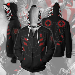 Overwatch Hoodies - Evil Ghost Zip Up Hoodie OTA510 - otakumadness